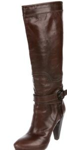 Costume National brown leather boots sz7